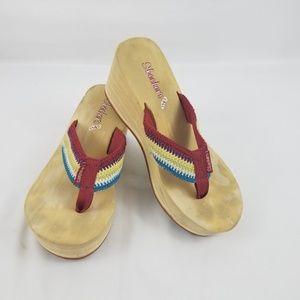 Skechers Womens Cali Flip Flops Size 7.5